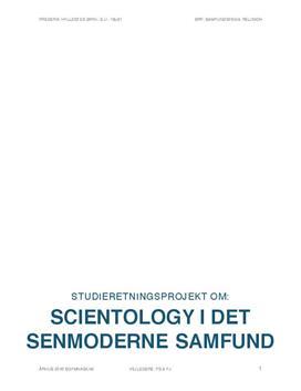 SRP om Scientology i det senmoderne samfund