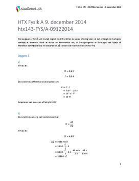 HTX Fysik A 2014 9. december - Besvarelse af eksamenssæt