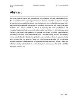 SOP om blogging som markedsførings i Psykologi B og Afsætning A