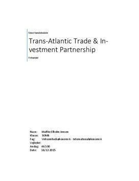 SOP om Transatlantic Trade and Investment Partnership