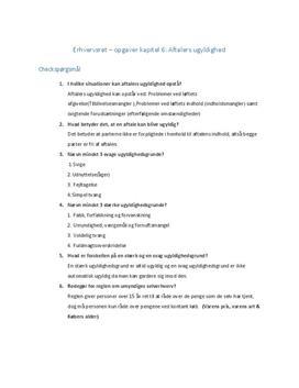 Kapitel 6 | Checkspørgsmål til aftalers ugyldighed | Erhvervsret C iBog