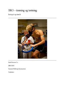 SRO om træning og konditionstestning i Biologi A og Idræt B