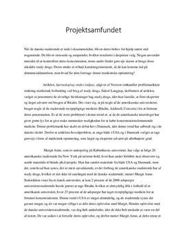 Projektsamfundet | Redegørelse og diskussion | Idéhistorie B