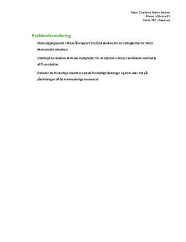 SSO om Atea i Virksomhedsøkonomi B og IT B på EUX