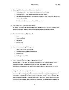Aftalers ugyldighed | Caseopgave 6A, 6B, 6C og 6E