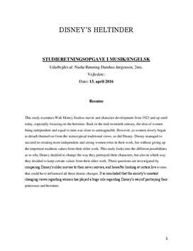 SRO om Disneys prinsesser i Musik A og Engelsk A