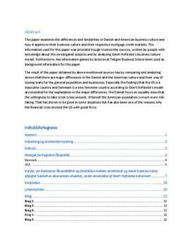 SRO om lånepolitikker i Danmark og USA