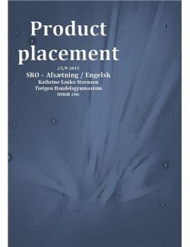 SRO om product placement i Engelsk A & Afsætning A