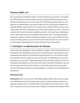 Case 5.2: Montana Møbler | Afsætning 1