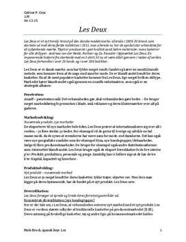 Virksomhedsanalyse af Les Deux