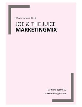Målgruppe og marketingmix for Joe & The Juice | Afsætning A