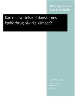 Evalueringsopgave | NF | Kan nedsættelse af danskernes kødforbrug påvirke klimaet?