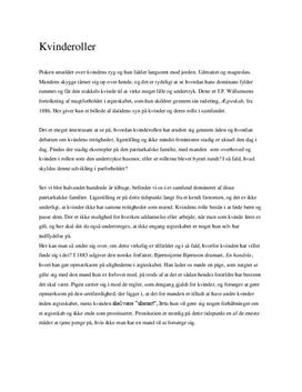 essay om kvindeundertrykkelse