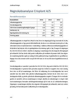 Regnskabsanalyse af Crisplant A/S | Virksomhedsøkonomi A