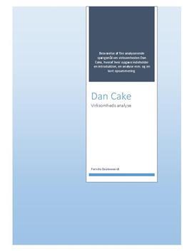 Virksomhedsanalyse af Dan Cake | Afsætning A