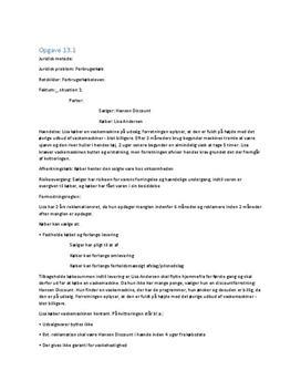 Opgave 13A og 13B om forbrugerkøb | Erhvervsret C - Juraens Grundregler