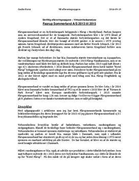 Analyse af Fårup Sommerland | Virksomhedsøkonomi A