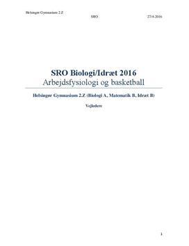 SRO: Arbejdsfysiologi og basketball i Idræt & Biologi