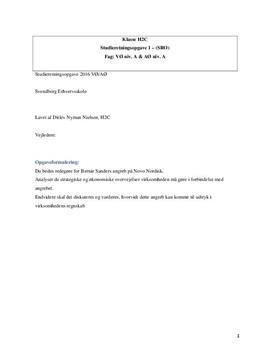 SRO: Novo Nordisk og fremtidsudsigter | VØ A og Afsætning A