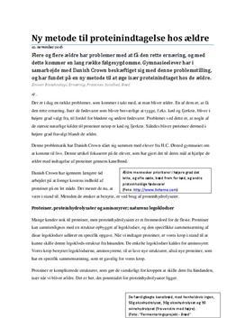 Proteinhydrolysater i kanelbrød | Populærvidenskabelig artikel