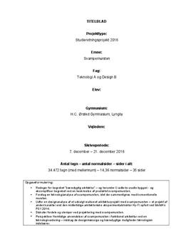 SRP om svampemursten i Teknologi A og Design B