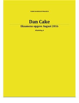 Dan Cake | Afsætning A | Eksamen august 2016