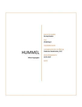 Hummel   Produkt, distribution og promotion   Afsætning A