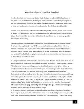 hvordan skriver man en novelleanalyse
