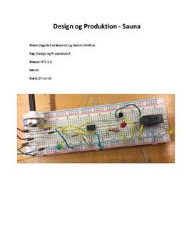 System til en sauna | Projekt | Teknikfag - Design og produktion A