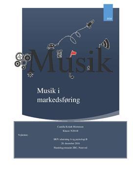 SOP om musik i markedsføring i Afsætning og Psykologi