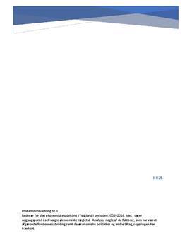 SRO om den økonomiske udvikling i Tyskland 2008-2016