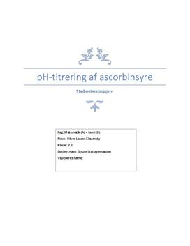 SRO om pH-titrering af ascorbinsyre i Matematik og Kemi