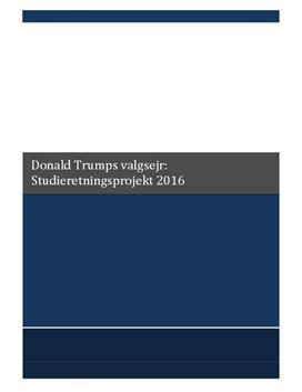 SRP om Donald Trumps valgsejr Samfundsfag A og Engelsk A