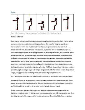 Bevægelsesanalyse af squat og bænkpress