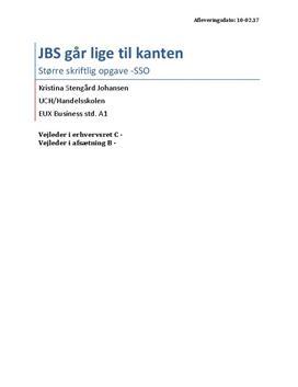 SSO om JBS i Afsætning B og Erhvervsret C