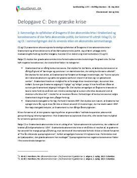 Delopgave C: Den græske krise | Samfundsfag A