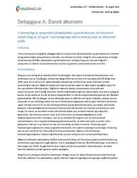 Delopgave A: Dansk økonomi | Samfundsfag A