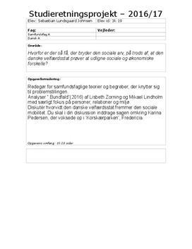 SRP om social arv og analyse af Bundfald