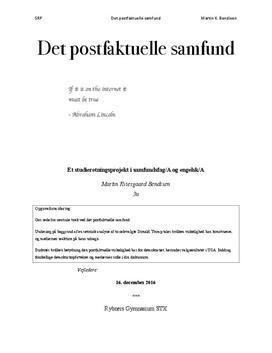 SRP om det postfaktuelle samfund
