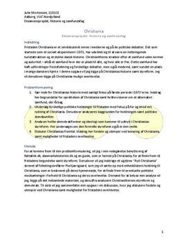 Synopsis til EP - Eksamensprojekt om Christiania