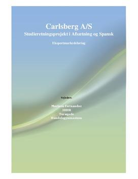 SOP om Carlsberg på det spanske marked | Afsætning A & Spansk A