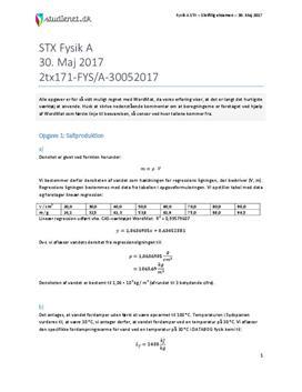 STX Fysik A 2017 30. maj - Besvarelse af eksamenssæt