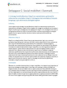 Delopgave C: Social mobilitet i Danmark | Samfundsfag A
