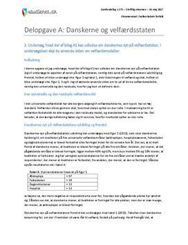 Delopgave A: Danskerne og velfærdsstaten | Samfundsfag A