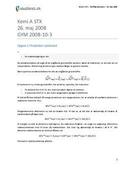 STX Kemi A Eksamen 26. maj 2008 Gammel ordning - Vejledende besvarelse