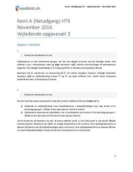 HTX Kemi A Vejledende opgavesæt 3 NET November 2016 - Vejledende besvarelse