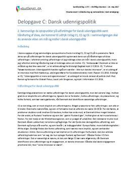 Delopgave C: Dansk udenrigspolitik | Samfundsfag A