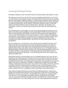Erlkönig | Analyse og fortolkning