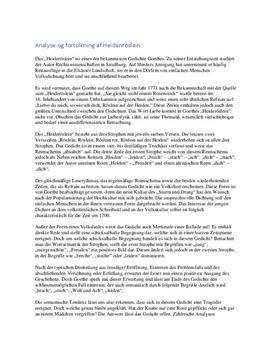 Heidenröslein | Analyse og fortolkning