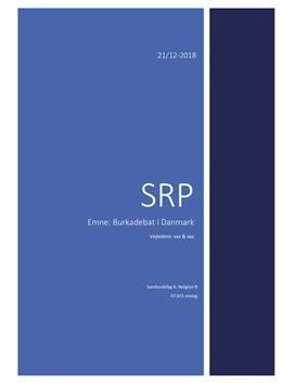 SRP om burkadebatten i Danmark   Religion B og Samfundsfag A